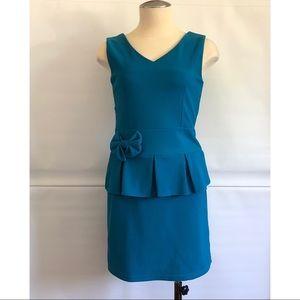 Petite friendly Peplum Dress Size: XS